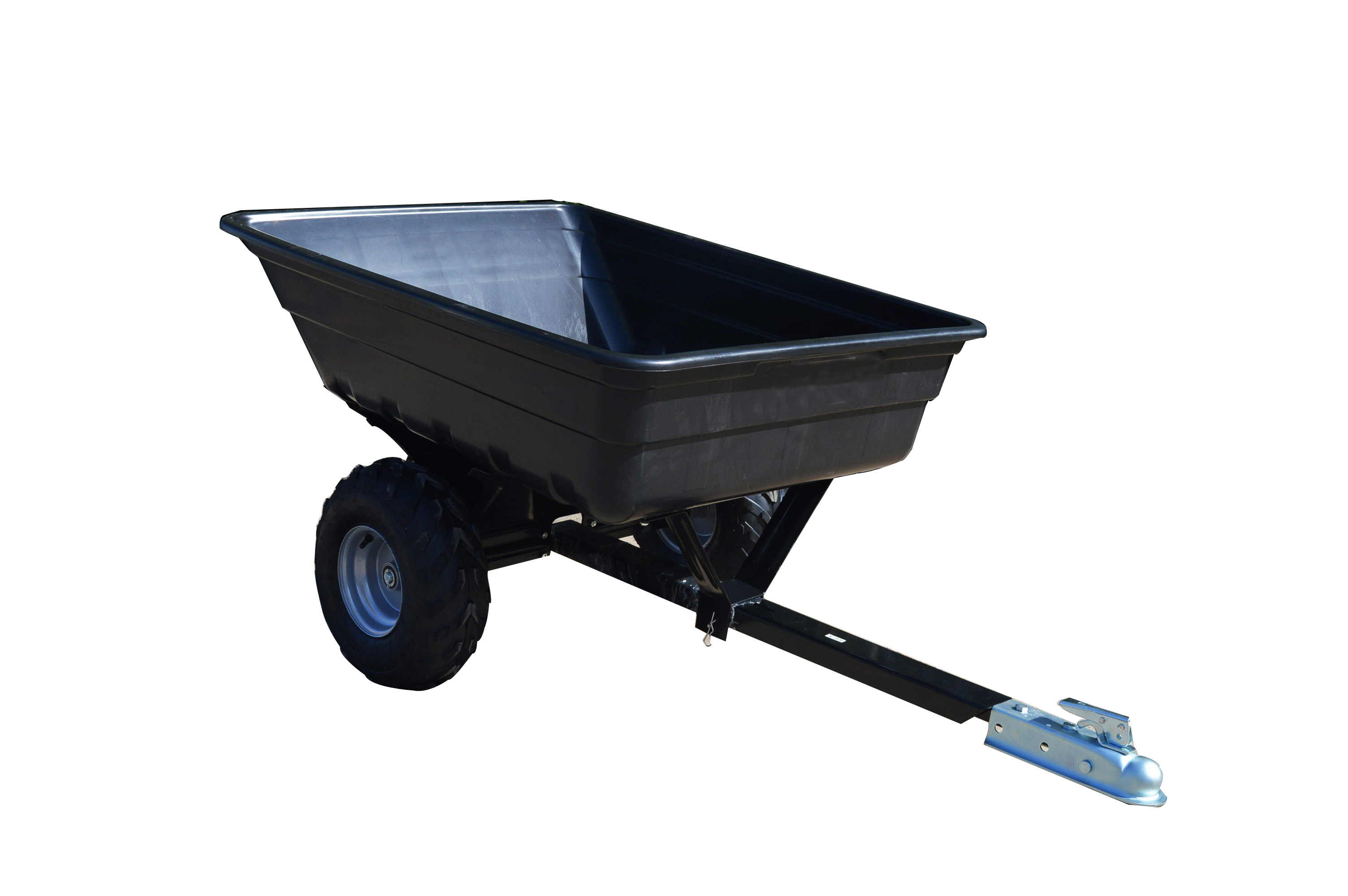2 wheel dump cart ATV tipping trailer